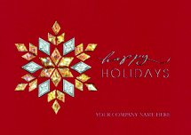 Crimson Luxe Holiday Cards